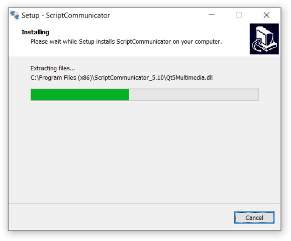 Установка ScriptCommunicator. Шаг 6
