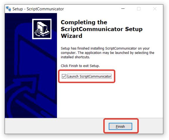 Установка ScriptCommunicator. Шаг 7